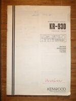 Manual De Instrucciones/instrucciones De Empleo Para Kenwood Kr-930, Original - kenwood - ebay.es