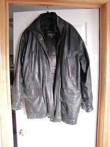 Bod & Christensen Size 38 3/4 Length Leather Jacket