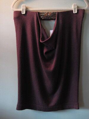 $225 Bcbg Maxazria Saks Fifth Avenue Sequin Cashmere/silk Brown Sweater M