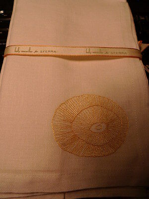 Sferra Kelly Wearstler Hillcrest Linen Dinner Napkins - White