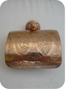 Porte papier derouleur wc toilettes finition cuivre rouge accessoire maroca - Fabriquer porte papier toilette ...