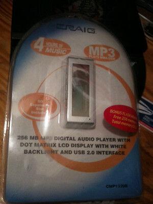 Craig Mp3 Player 256mb With Bonus 256 Memory 8 Hours Tunes