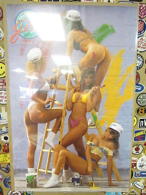 Vintage California Girls-paint Poster 1988 A