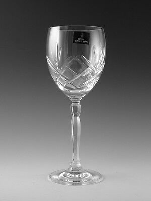 Royal DOULTON Crystal - DAILY MAIL Offer Cut - Wine Glass / Glasses - 7 3/4""