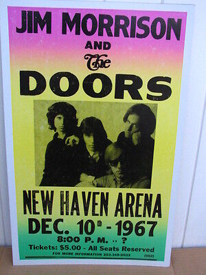Vintage Doors Jim Morrison Concert Poster 1967 New Haven, CT