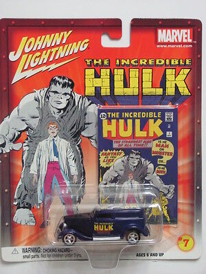 Johnny Lightning Marvel The Incredible Hulk 7 '33 Ford Delivery Purple