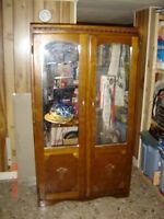 Antique Mirrored Stand-alone Wardrobe Closet