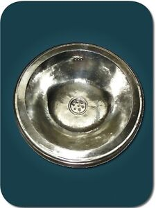 vasque ronde en maillechort vasque cuivre marocaine salle de bain orientale ebay. Black Bedroom Furniture Sets. Home Design Ideas