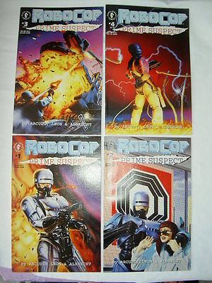 "ROBOCOP  ""PRIME SUSPECT"". COMPLETE 4 ISSUE MINI SERIES BY ARCUDI & LEON. DH.1992"