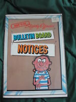 bulletin board notices book