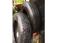 2 Nissan Micra part worn tyres 165/70R14 81T