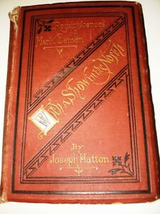 1st ED 1871 With a Show in the North REMINISCENCE of MARK LEMON