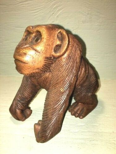 Monkey - Wooden hand carved monkey from Africa