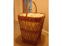 AS NEW Vintage Wicker Laundry Basket