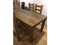 Rustic Reclaimed Wood Dining Table seats 6 people very comfortably