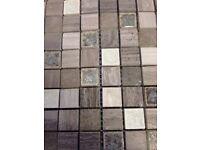 CLEARANCE Grey matt and glazed mix mosaics. Tiling projects, crafts