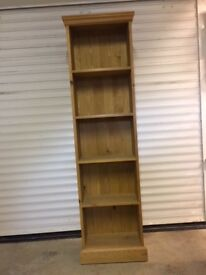 Tall pine bookshelf as new
