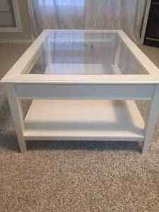 Ikea LIATORP coffee table in ivory/glass