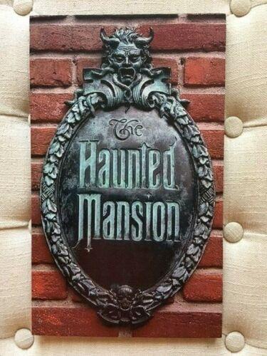 HAUNTED MANSION DISNEY MAGIC KINGDOM HANDCRAFTED NOSTALGIC WOODEN SIGN