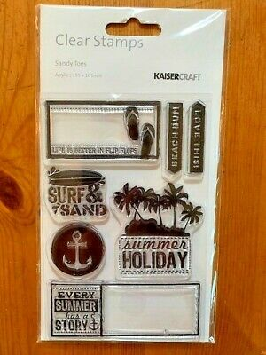 Kaisercraft Sandy Toes Clear Stamp Set - 155mm x 105mm, 7 stamps, CS200
