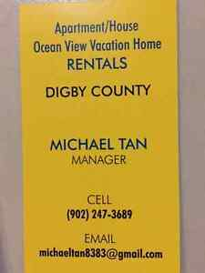 2 bedroom house for rent in digby  or one bedroom apt for rent