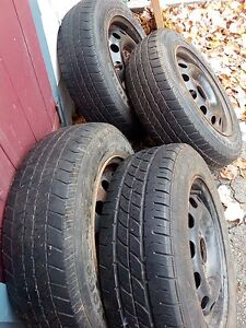 """14"""" rims and tires $100 obo"""
