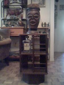 1 ancien Jembi 2 faces sculpter en bois ,annee 50 (Somalie)
