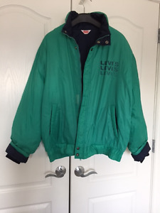 VINTAGE LEVI'S LIGHTWEIGHT MEN'S WINTER COAT CELTIC GREEN