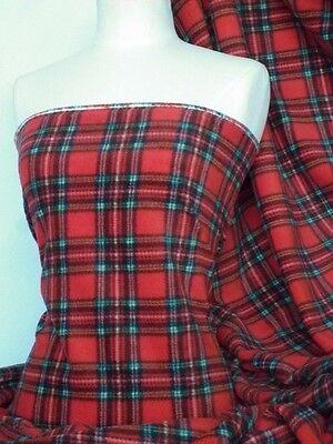 Polar fleece-anti pill soft tartan fabric Q1095 RD