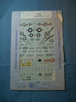SUPER SCALE DECALS 1/48-216 - F-14A's ~ VF-74 & VF-124 for sale  Wilkes-Barre
