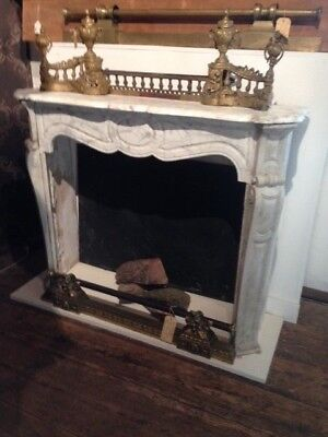 Kaminmaske Louis XV Kamin Ofen Herd Kamineinfassung chimney face Marmor