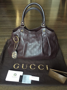 Gucci Brown Guccissima Medium Sukey bag