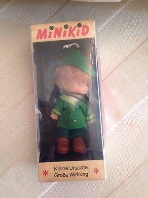 Rarität Schildkröt Minikid Jäger Original Verpackung  Vintage 60er Jahre Puppe