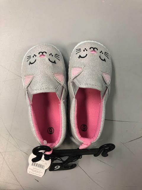 Infant Girls Kitten Slip On Shoes NEW