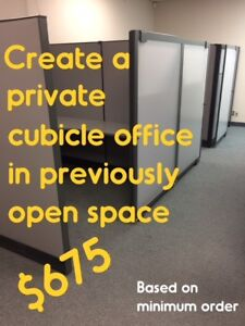 USED OFFICE CUBICLES, EXCELLENT CONDITION, VARIOUS