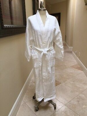 Womens Egyptian cotton Turkish Terry Velour Towelling Kimono Robes