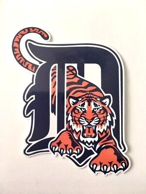 Detroit Tigers Car Bumper Laptop Window Truck 5 Inches Vinyl Sticker Decal (Tigers Window)