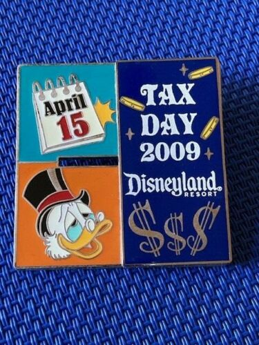 Disney DLR Disneyland Tax Day 2009 featuring Scrooge McDuck Pin LE 1000