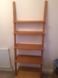 Solid Oak Wooden ladder shelves