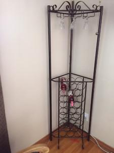 Beautiful corner wine rack