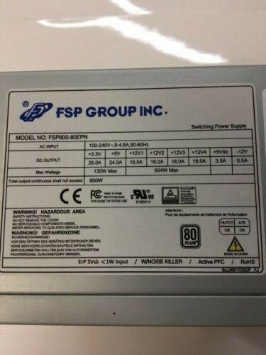 FSP600-80EPN 600 Watt 80 PLUS ATX Power Supply