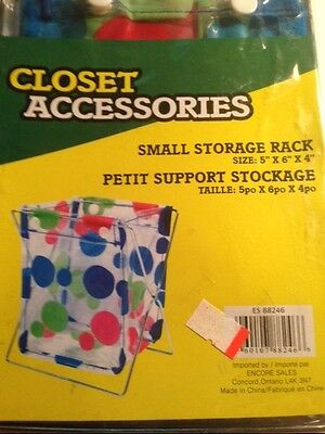 Locker Storage Bins (LOT OF 2-SMALL STORAGE BIN RACK 5 X 6 X 4 SCHOOL LOCKER, OFFICE OR HOME NEW)