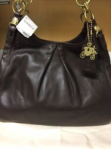 COACH brown shoulder bag *NEW*
