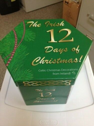 The Irish 12 Days Of Christmas  Ball Ornament Set in box - Ireland/Celtic