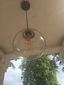 Antique round hanging replace light
