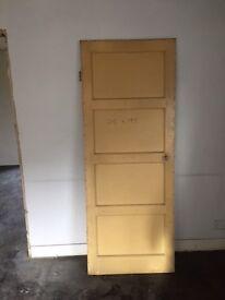 Four panel internal door solid wood