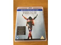 Michael Jackson's This is it 3D blu-ray