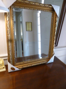 Brand New Fantastic Gold Leaf Mirror with Beveled Edge