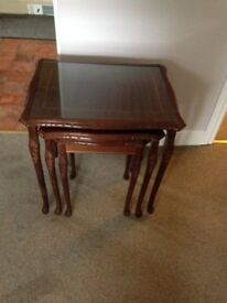 Collection only from Totton. Nest of three glass top tables. Very good condition.