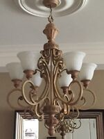 **WROUGHT IRON-STYLE DECORATIVE CHANDALIER FOR SALE $80**